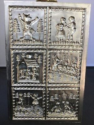 House on the Hill Metal Cookie Plaque Hansel & Gretel 6 Scenes