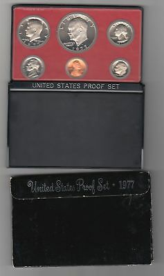 1977 US Mint Proof Set Black Box w/ Lucite Coin Holder