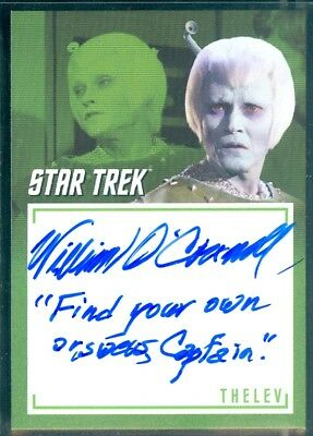 STOS Captain's Collection (A11) William O'Connell as Thele Inscription Auto Card
