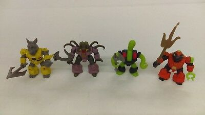 Lot Of 4 Vintage 1986 Battle Beasts With Weapons 1st Series Triple Threat Snake
