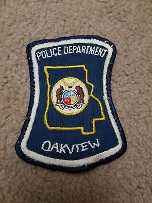 Old Oakview MO Missouri Police Shoulder Patch Hour Glass Style
