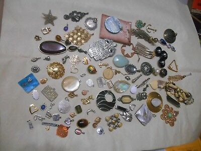 Mixed Lot Of 85 Pendants & Charms,5 Sterling,some Vintage