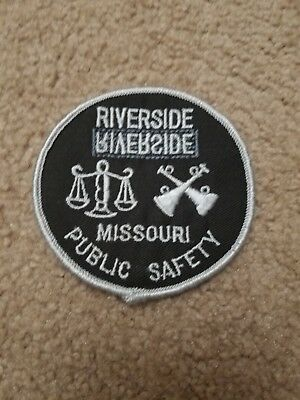 Riverside Mo Missouri Police Patch Public Safety Old Round Style