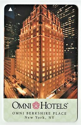 THE OMNI BERKSHIRE PLACE *NEW YORK NY* hotel key card FAST SAFE SHIPPING! #85