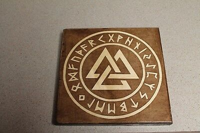 Valknut handmade decorative plaque - Viking/Norse Valhalla - Valknut