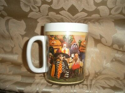 VINTAGE 1977 MCDONALDS THERMO-SERV MUG Grimace Hamburglar Captain Crook Professr