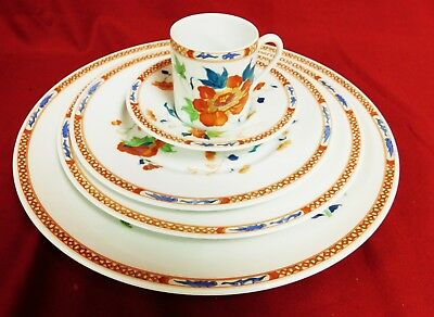 HOKUSAI by Raynaud Ceralene Dinnerware Set Limoges France - 39 Pieces - MINT