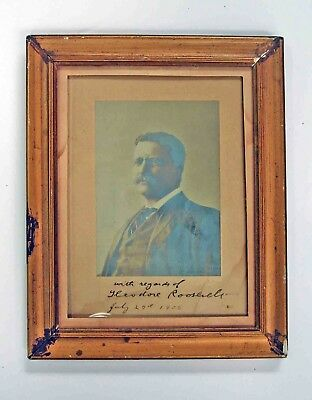 1905 Theo TEDDY ROOSEVELT Autographed Official Presidential PHOTOGRAPH by BELL