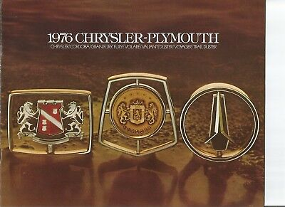 original 1976 Chrysler and  Plymouth full line sales brochure