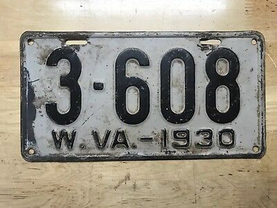 1930 West Virginia License Plate