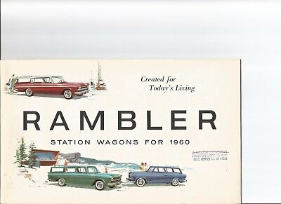1960 AMC Station Wagons sales brochure -  Ambassador, Rambler, and American