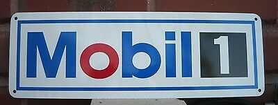Mobil 1 Motor Oil Gas Gasoline Station Racing Sign Mechanic Shop Advertising 10d