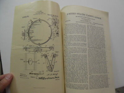 1917 Musical Instrument Collapsible Drum Patent Letter Document Drawings Antique