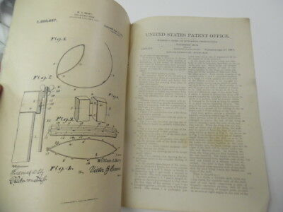 1917 Collapsible Drum Patent Letter Document Drawings Musical Instrument Antique