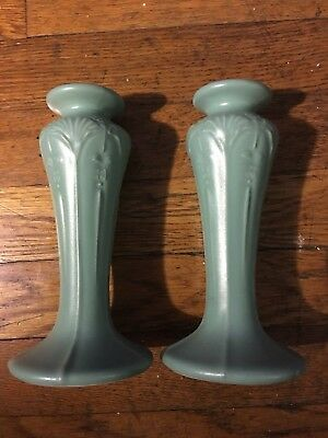 Beautiful Arts and Crafts style ceramic candle sticks