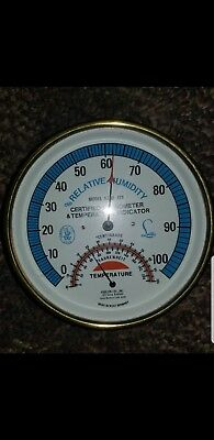 relative humidity and  certified hygrometer and tempature indacator