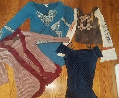 Womens lot 4 small xs boutique tops boho trendy tunic Save The Queen