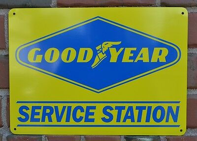 GOODYEAR Tires Service Gas Station Garage Mechanic Shop Sign Advertisng 10day