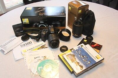 Nikon D3100 Digital SLR Camera outfit w/ 2 lenses (18-55mm VR & 55-200mm VR)