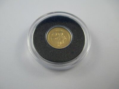 2013 FIRST MOON LANDING - THE SMALLEST GOLD COIN - No Certificate