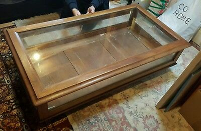 Beautiful Antique Display Cabinet - Large Coffee Table Shape - perfect for shops