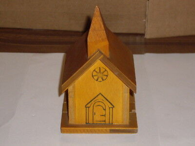vintage wood church donation offering collection bank from Selinsgrove Pa.