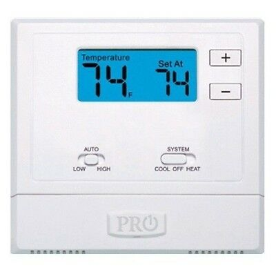 Pro1 1 Heat 1 Cool Electric or Gas configurable t701 pro1 iaq single stage non programmable thermostat $35 00