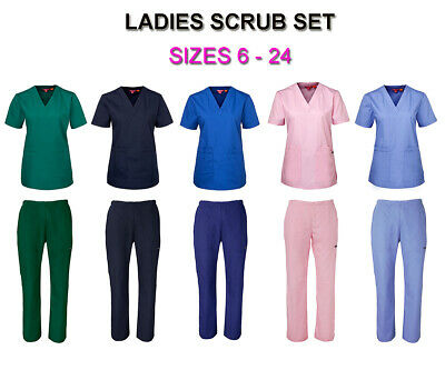 Jbs Ladies Classic Hospital Grade Scrub Pants Medical Nursing Dental Uniform