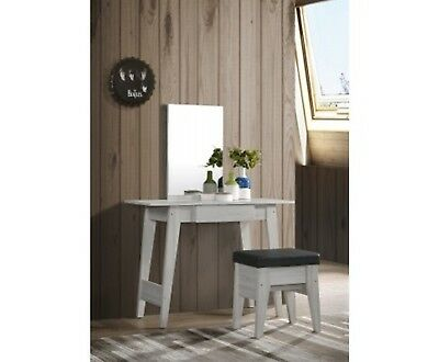 New Dressing Table With Stool In White Oak Organiser Bedroom Home Furniture