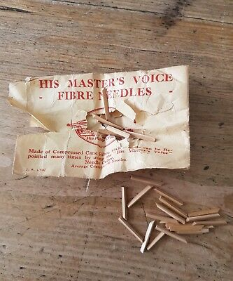His Masters voice..Fibre gramaphone Needles..paper packet