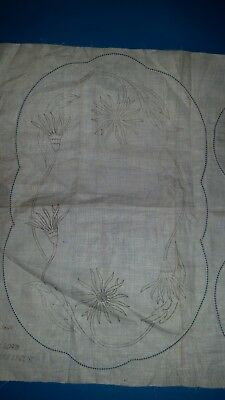 100% Pure Linen Traced Duchess set to embroider.
