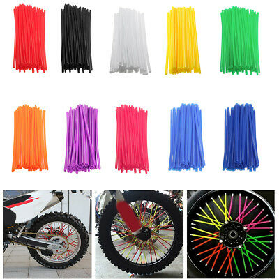36PCS Universal Motocross Dirt Bike Accessory Wheel Rim Spoke Wrap Skins Cover