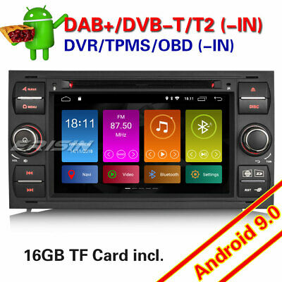 Autoradio for Ford Focus Mondeo Kuga Transit S/C/Max DAB+Android 8.1 GPS Navi CD