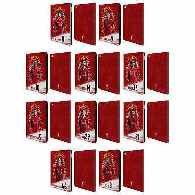 LIVERPOOL FC LFC 2018/19 FIRST TEAM GROUP 1 PU LEATHER BOOK CASE FOR APPLE iPAD