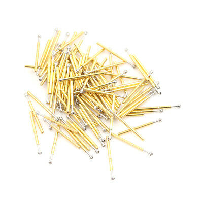 100pcs P75-LM2 Dia 1.02mm 100g Spring Test Probe Pogo Pin Receptacle Tool OXDE