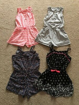 4 Lovely Girls' Playsuits, Age 8-9, Great Condition.