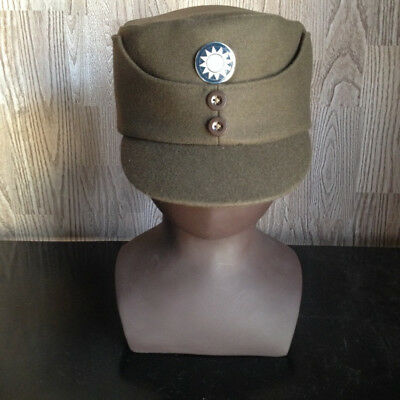 WW2 Chinese KMT Army Soldiers' M43 Style cap hat CN