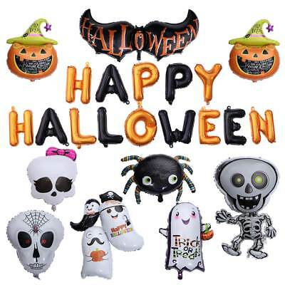 Halloween Carnival Pumpkin Foil Balloons Haunted House Party Bar Decor Happy FUN