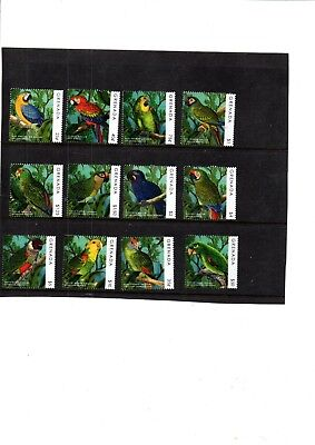 A  Unmounted Mint Set From Grenada Parrots