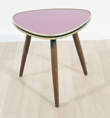 50er Nierentisch Resopal rosa Rockabilly Cocktailtisch Mid Century Tripod Table