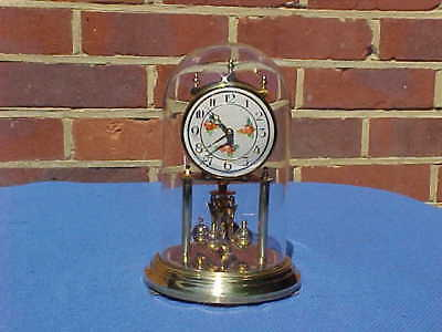 Vintage German Kundo 400 Day Glass Domed Anniversary Clock