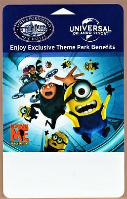 UNIVERSAL ORLANDO RESORT *DESPICABLE ME* LOWES PORTOFINO BAY hotel key card#36
