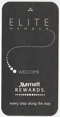 MARRIOTT REWARDS HOTEL** ELITE MEMBER*SLIM style key card Fast Safe Shipping #15