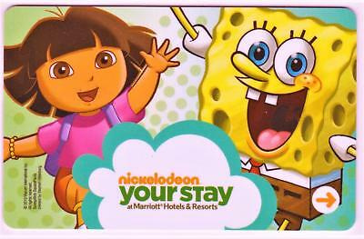 MARRIOTT HOTELS/RESORTS**SPONGE BOB and DORA *hotel key card Fast Ship#1163
