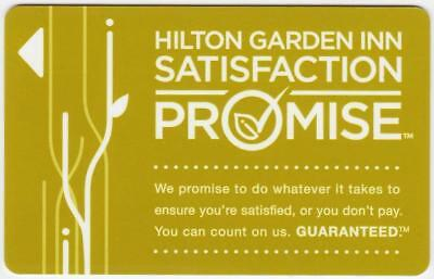 HILTON GARDEN INN** Satisfaction Promise *hotel  key card Fast Shipping #165