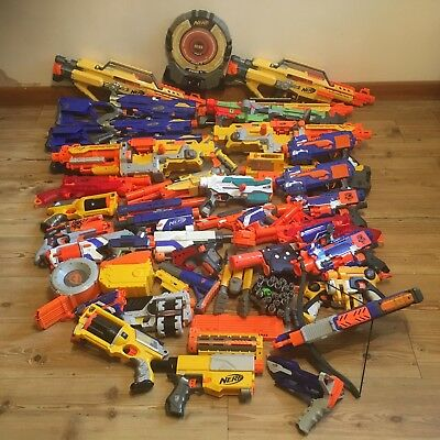 Faulty Nerf Bundle 35 Guns Accessories Longstrike CS6 Havok Stampede Deploy More