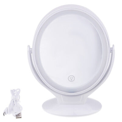 Makeup Mirror Touch Control LED Light Cosmetic Mirror 360 Degree Rotated