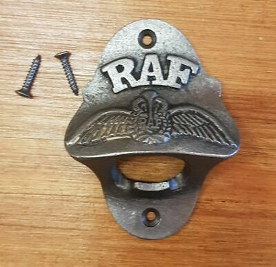 Cast Iron Wall Mounted Vintage Antique Style Bottle Opener - RAF Royal Air Force