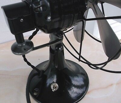 "ANTIQUE/VINTAGE/DECO 30's ELECTRIC 10"" OSCILLATING FAN-PROFESSIONALLY RESTORED"