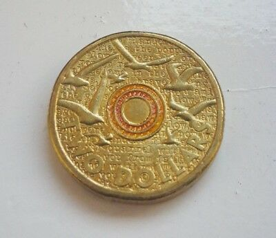 2015 $2 Two Dollar Orange Rememberance Day Coin Circulated
